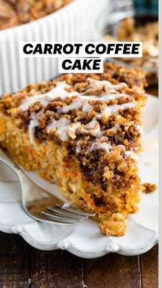 Crumb Coffee Cakes, Crumb Cakes, My Favorite Food, Favorite Recipes, Carrot Spice Cake, Cake Recipes, Dessert Recipes, Cake Flavors, Sweet Bread