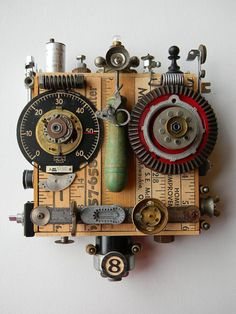 Recycled Art Assemblage  Salvage Bot  Original by redhardwick, $165.00