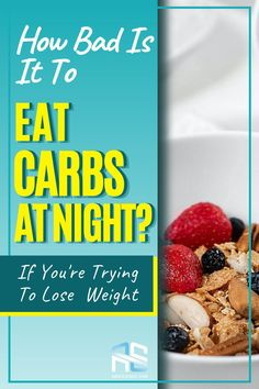Healthy weight loss tip: eat carbs at night because you can lose weight eating carbs. Jump to the blog and learn all about carbohydrates and weight loss.