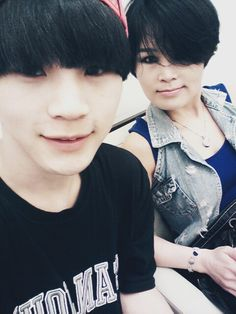 hansol with his mom