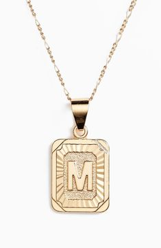 Over 500 Gift Ideas for the Ladies in Your Life + ALL the Sale Info for Black Friday! | The Perfect Palette Initial Pendant Necklace, Gold Plated Necklace, Gold Necklace, Christmas Gift Guide, Simple Jewelry, Initials, Nordstrom, Jewelry Accessories, Fashion Jewelry