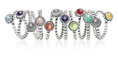 pandora stackable birthstone rings - love these! Great gift for moms!