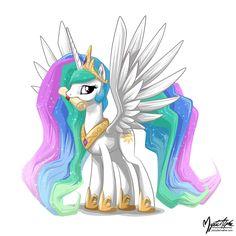 Princess Celestia with Scroll by mysticalpha.deviantart.com on @deviantART