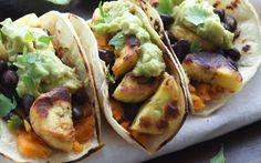 Plantain Sweet Potato Tacos With Guacamole [Vegan, Gluten-Free]   One Green Planet