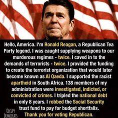 The Republican lord god almighty -Ronald Fck'n Reagan