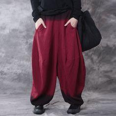 Casual Linen Loose Gradient Pants