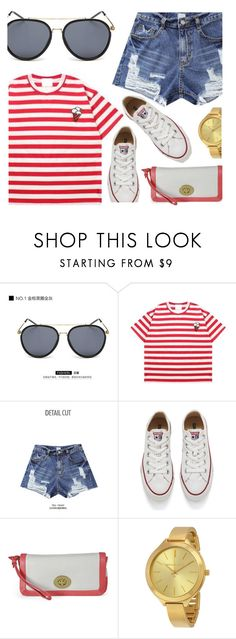 """""""Casual"""" by monmondefou ❤ liked on Polyvore featuring KOON, Momewear, Converse and red"""