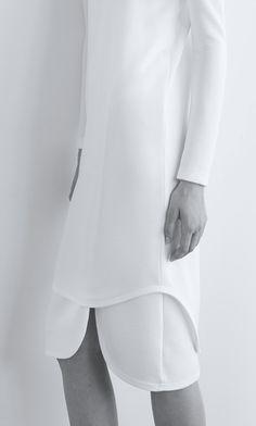 CLEAN LINES  - Josh Goot | Pre-Fall 2015 White elegant dress