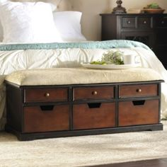 Walnut Flynn Storage Bench | Kirkland's