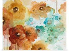 Patricia Pinto Poster Print Wall Art Print entitled Mis Flores I, None