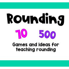 Apr 2020 - Rounding - Games, activities and ideas for teaching rounding. See more ideas about Third grade math, grade math and Rounding games. Rounding Games, Rounding Numbers, Number Activities, Number Games, Third Grade Math, Teaching, Education, Onderwijs, Learning