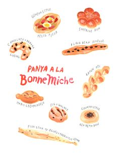 I'm in Japan for a while taking a break from the city, and I am addicted to checking out bakeries. There's a really sweet bakery in my neighborhood that opened up a few years ago so I went to go check out how it's doing. The owner ofPanya a la Bon Michehas been trained in Paris, so they have very good basic hard breads, as well as a unique assortment of breads that combine that quality with a Japanese approach. (most bakers in Japan make their breads very soft and fluffy) ...