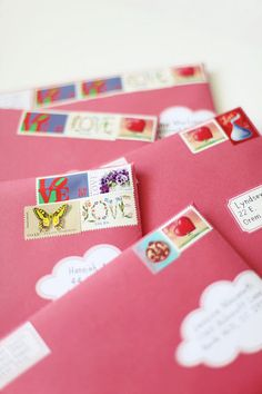pretty mail - love the cloud labels