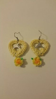 Yellow Soda Tab earrings