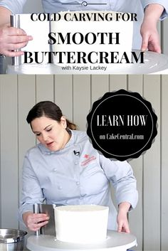 In this video, Kaysie Lackey demonstrates how to cold carve a cake with buttercream icing. The Innovative Sugarworks Turntable Expander...