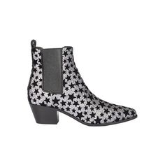 Saint Laurent Paris Rock 40 Chelsea Boots. ($877) ❤ liked on Polyvore featuring shoes, boots, ankle booties, grey, beatle boots, mid heel booties, grey booties, chelsea ankle boots and gray booties