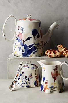 Wildflower Study Teapot. This beautiful teapot is rich in contrast and texture and deserves a place at every tea party