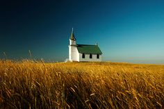 Prairie Church on the Montana Great Plains by Todd Klassy, via Flickr