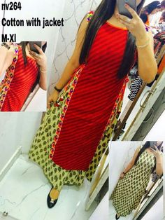 9b3f6e08c7af1 Buy Selfie Red Cotton Printed Sleeveless Kurti online in India at best  price.
