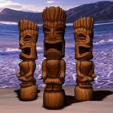 Carve a tiki out of wood