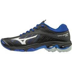 f29ec6342512 Mizuno Wave Lightning Z4 Women's Volleyball Shoes Womens Size 9 In Color  Black-Royal (9052)