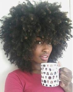 This girl's fro is the truth yo