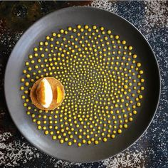 All those dots. Orange cream tart by @enriquelimardo #theartofplating