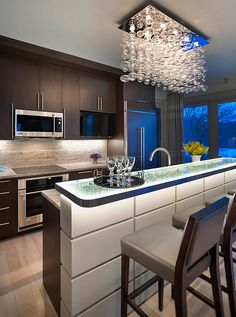 5 Awesome Kitchen Styles With Modern Flair - between kit & FE or over dining area