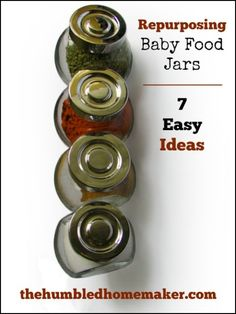 7 Ways to Repurpose Baby Food Jars - thehumbledhomemaker.com