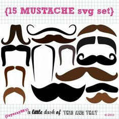 Moustach SVG Kit: http://www.printcandee-store.com/products/Mustache-SVG-Set.html