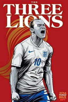 World Cup 2014 National Teams Posters Illustrations By ESPN #art #design #football | England, Roony ( player of Man United )