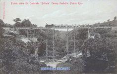 Redescubriendo a Puerto Rico: American Railroad Company of Porto Rico - Puente sobre la quebrada Bellaca. El puente ya no existe pero el lugar conserva parte de su magia gracias al puente moderno que descansa en sus antiguos estribos.
