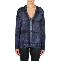 Avant Toi Ladies Embellished Cashmere Cardigan Navy - LINEAFASHION.COM 1a41914e341