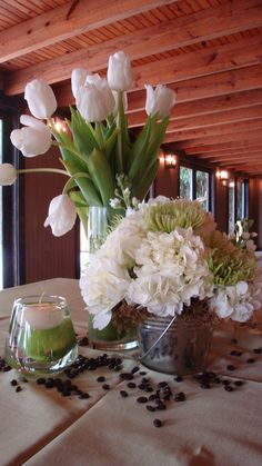 Flowers and Coffee Beans  JW Weddings and Events  Charleston, SC