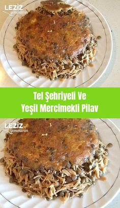 Tel Şehriyeli Ve Yeşil Mercimekli Pilav – Pilav tarifi – The Most Practical and Easy Recipes Seafood Appetizers, Seafood Dinner, Pasta Recipes, Dinner Recipes, Turkish Recipes, Homemade Beauty Products, Foot Tattoos, Food And Drink, Pork