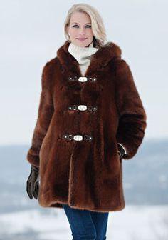 Donna Salyers Fabulous-Furs Copper Faux Fur Hooded Coat - Women & Plus Ladies Hooded Coats, Faux Fur Hooded Coat, Fabulous Furs, Winter Fashion, Fur Fashion, My Style, Womens Fashion, Jackets, Mink