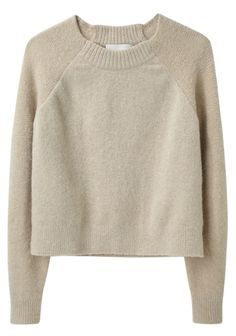Raglan Pullover, by Phillip Lim: Knitwear Fashion, Knit Fashion, Long Sweaters, Pullover Sweaters, Raglan Shirts, Crop Shirt, Long Sleeve Crop Top, Cropped Sweater, Cropped Tops