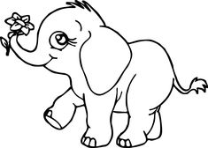 baby elephant coloring pages to download and print for free  alexa  elephant coloring page