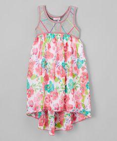 Loving this Gray Floral Hi-Low Dress - Kids & Tween on #zulily! #zulilyfinds