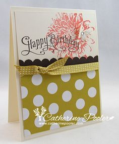 I made this with a friend...it was her very first card! http://catherinepooler.com/2013/02/blooming-with-kindness-stampin-up-birthday-card-making-a-new-stamper-is-born/