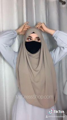 Niqab Fashion, Modest Fashion Hijab, Modern Hijab Fashion, Islamic Fashion, Muslim Fashion, Hijab Turban Style, Mode Turban, New Hijab Style, Simple Hijab Tutorial