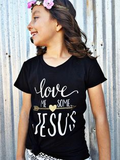 Who doesn't love me some Jesus?! Wear your faith on a graphic tee! This Christian apparel shirt is just a cute way to show your faith. Let the light of Jesus shine. Faith and fashion never looked any cuter!!! These shirts are also available in women's sizes. www.ao1apparel.com