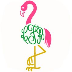 This is a great monogram design pack of these beautiful pink birds. Add your own letters and create your own monogram designs, try using our font monograms. Monogram Frame, Monogram Design, Monogram Fonts, Monograms, Free Svg Cut Files, Svg Files For Cricut, Vector Design, Logo Design, Kids Silhouette