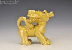 Dragon C, Lion Sculpture, Ceramics, Statue, Artist, Hall Pottery, Pottery, Ceramic Art, Clay Crafts