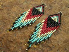 seed bead earrings <3