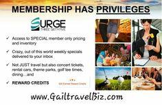 The Benefits of a Surge 365 Travel Club membership.