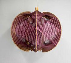 Thread Art Lampshade '60's '70's