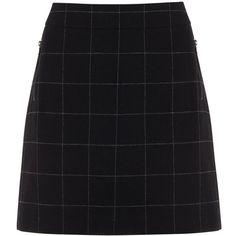 Mint Velvet Check Skirt, Blue ($68) ❤ liked on Polyvore featuring skirts, saia, knee length a line skirt, blue skirt, checkerboard skirt, mint velvet and print skirt