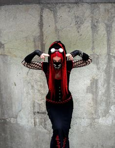 Mistabys, red cyber-goth creature