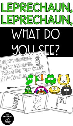 Use this emergent reader with your students for St. Students will read and color this for St. Leprechaun 2, Classroom Activities, Activities For Kids, Emergent Readers, What Do You See, Irish, Have Fun, Poems, Students